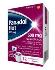 PANADOL HOT 500 mg jauhe oraaliliuosta varten (annospussi)12 kpl